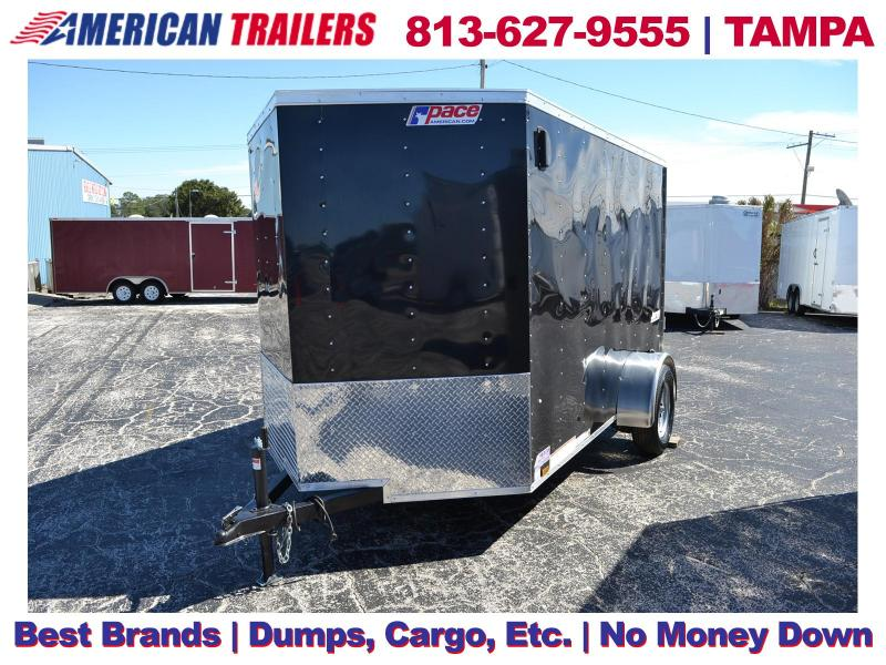 6x10 Pace American Trailers | Enclosed Cargo Trailer [Black]