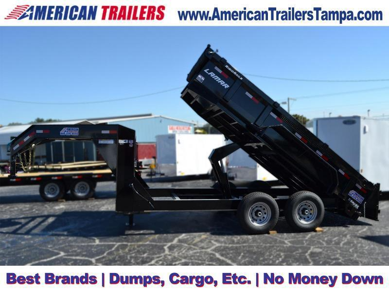USED 2018 7x14 Lamar Trailers | Dump Trailer [Gooseneck]