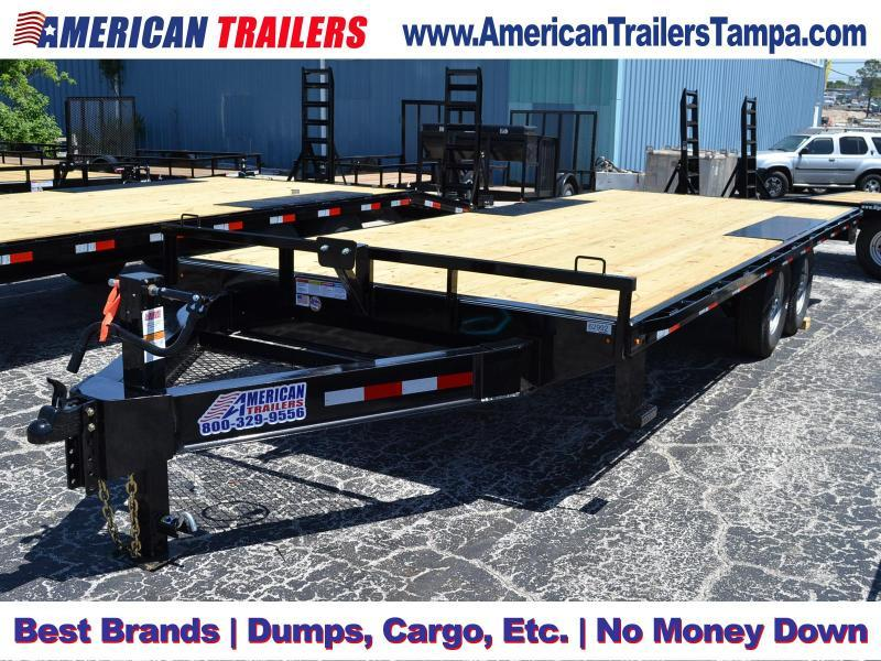 8.5x20 Lamar Trailers | Equipment Trailer Drive Over Fenders