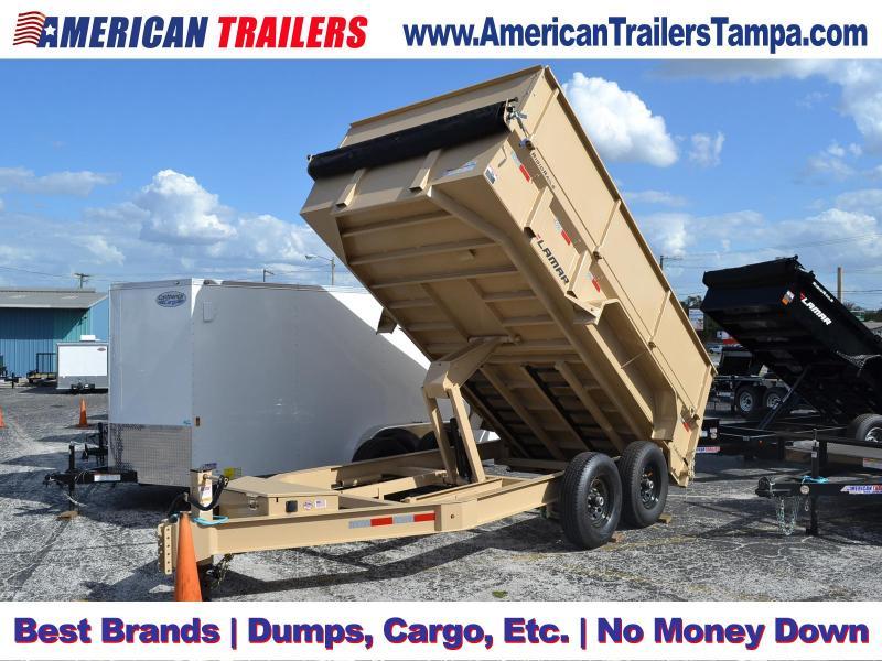 7x14 Lamar Trailers | Dump Trailer [Desert Tan]