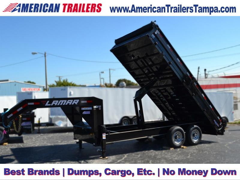 8x16 Lamar Trailers Deck-Over Dump Trailer