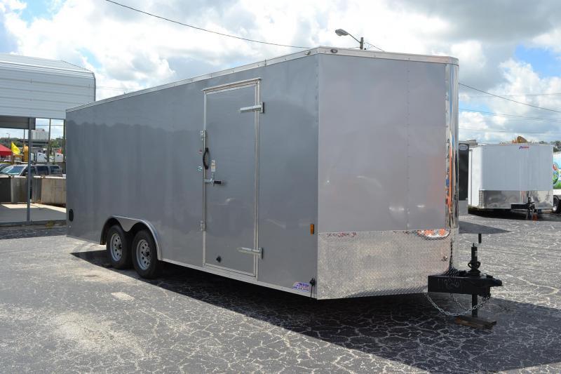 8.5x20 Continental Cargo | Enclosed Trailer [Silver]