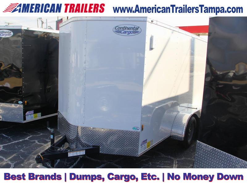 6x12 Continental Cargo | Enclosed Trailer Ramp Door