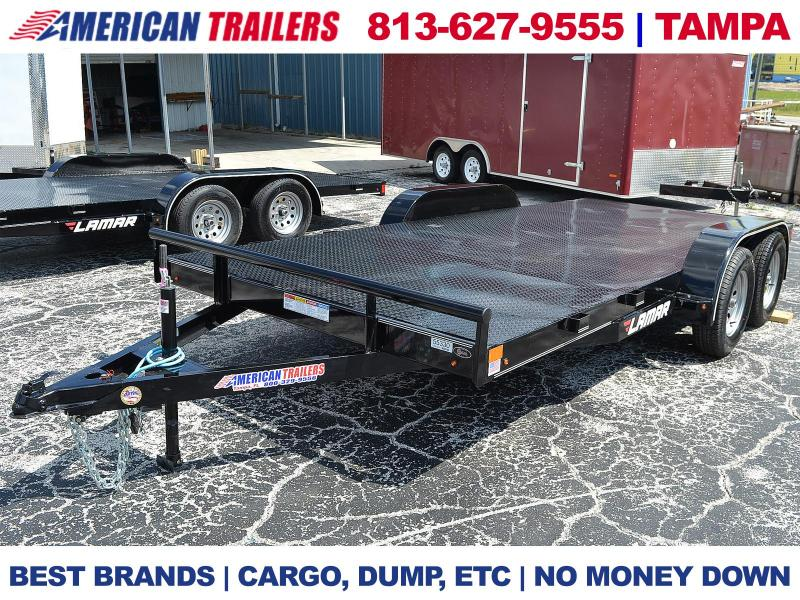 7x16 Lamar Trailers | STEEL DECK CAR HAULER