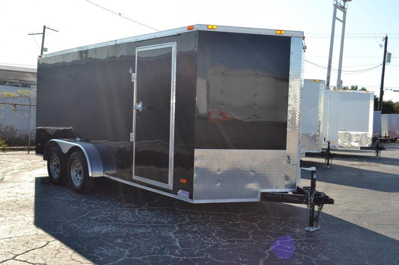 7x16 Red Hot Trailers | Enclosed Trailer [Black]