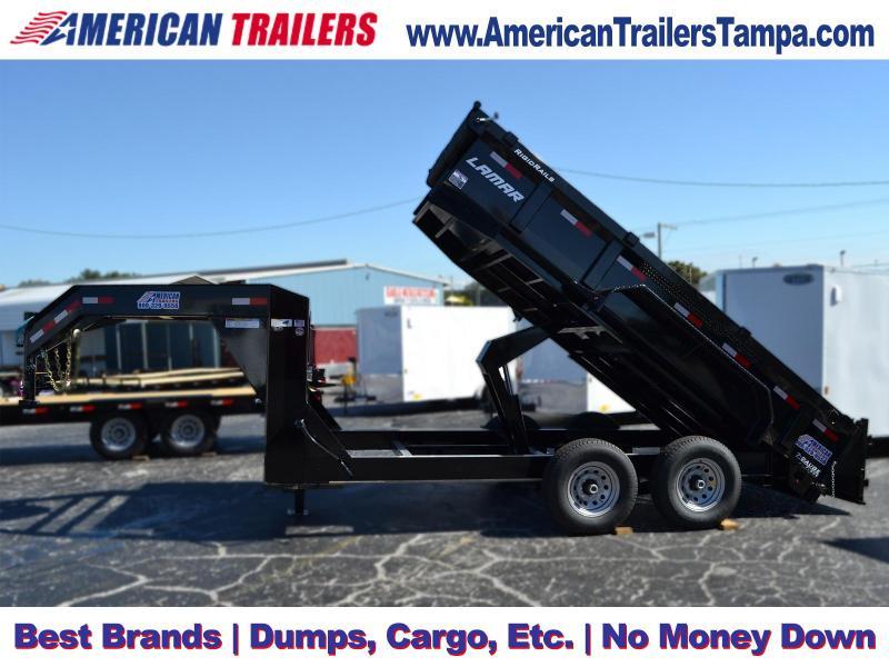 7x14 Lamar Trailers | Dump Trailer [Gooseneck]