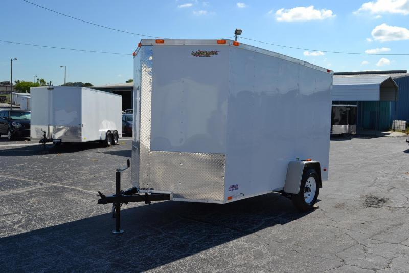 6x10 Red Hot Trailers Enclosed Cargo Trailer