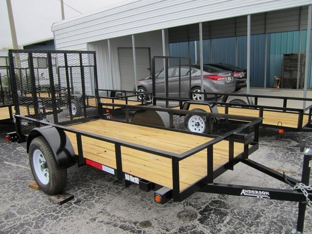 2014 Anderson Manufacturing 5x10 Single Axle Utility Trailer