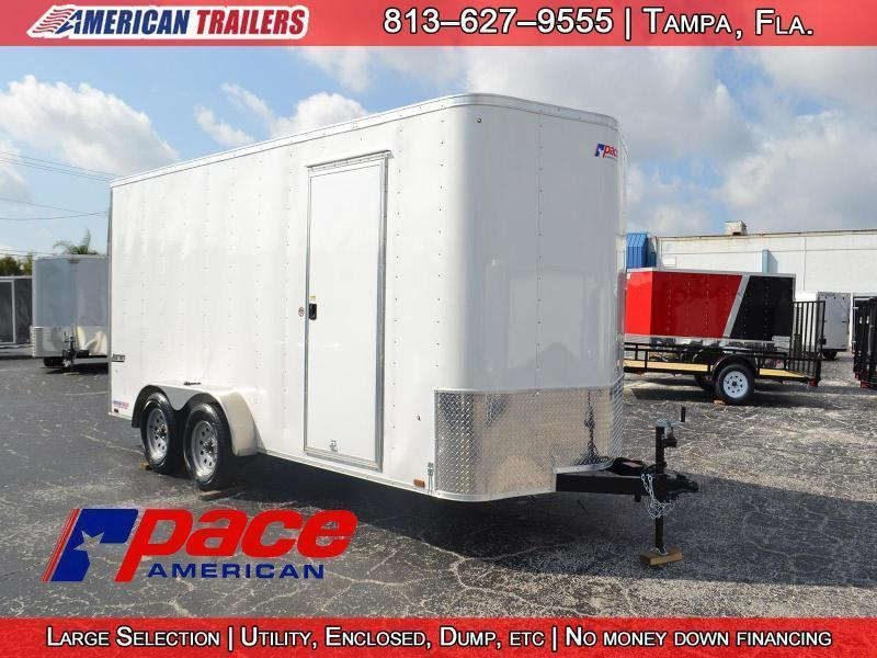 2018 7x16 Pace American Enclosed Cargo Trailer