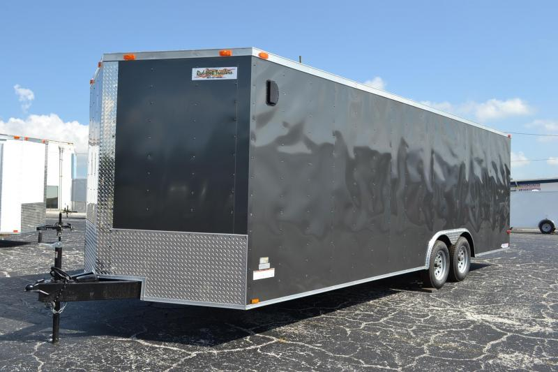 8.5x24 Red Hot Trailers | *Enclosed*Trailers*Trailer Charcoal Grey