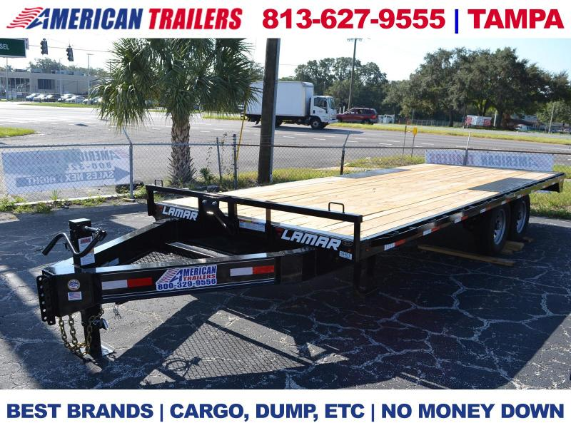 8.5X20 Lamar Trailers | STRAIGHT DECKOVER | Equipment Trailer