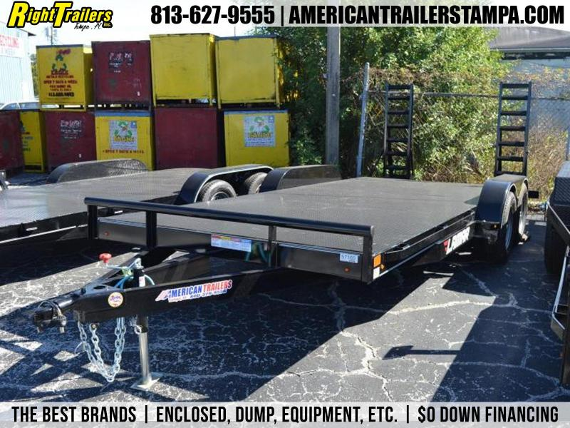 7x18 Lamar Trailers | STEEL DECK CAR HAULER