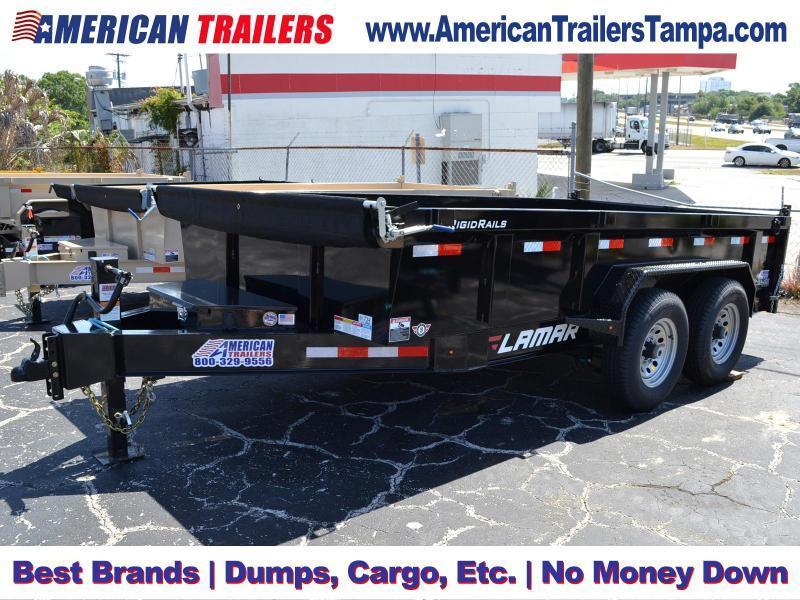 7x14 Lamar Trailers   Low Pro Dump [BLACK]