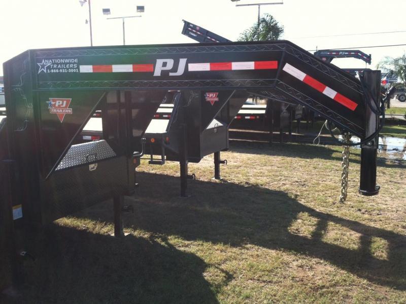 PJ Trailers - Gooseneck Flatdeck W/ 12K Duals 102