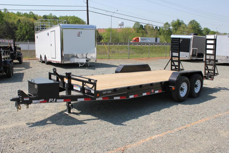 2017 PJ Trailers 20CC 16K w/ Tongue Box & Fold Up Ramps