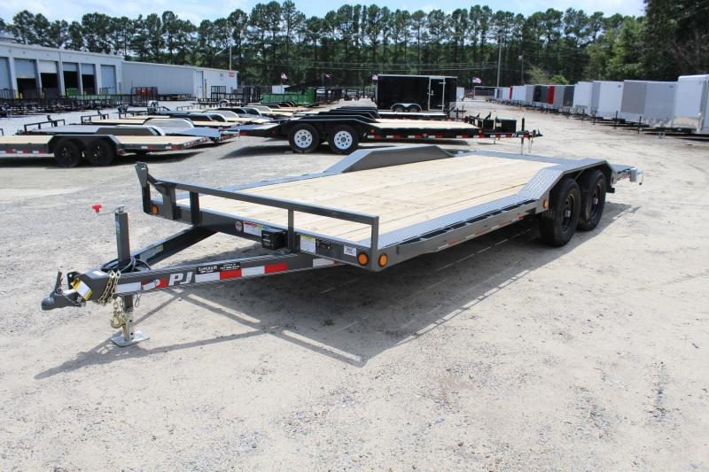 2018 PJ Trailers 20ft B5 10K Car/Racing Trailer w/ Slide In Ramps