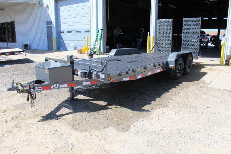 2018 PJ Trailers 20ft CE 10K Equipment Trailer w/ HD Fold up Ramps