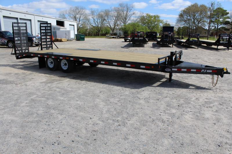 "2018 PJ Trailers 25ft F8 14K Deckover w/ 31"" X 66"" HD Fold up Ramps"