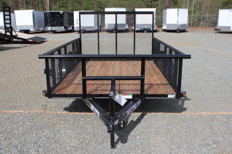 2017 Texas Bragg Trailers 6x10P 2ft Expanded Sides w/ Gate