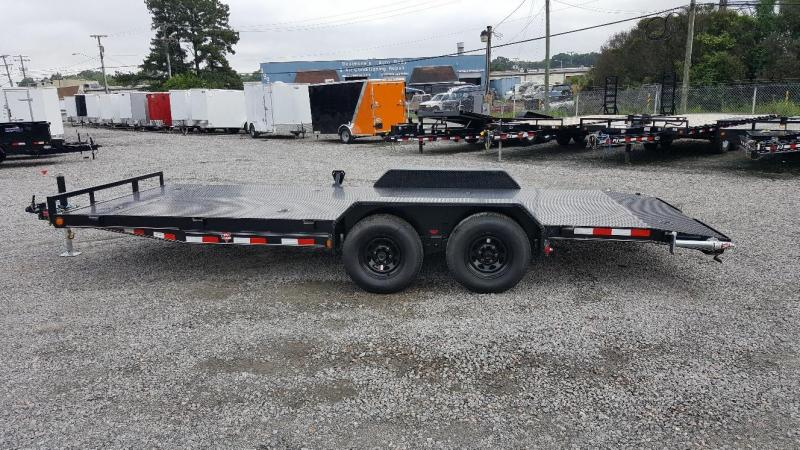 2019 PJ Trailers 20ft CE 10K Equipment Trailer w/ Rear Slide in Ramps