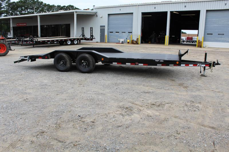 2018 PJ Trailers 20ft B5 10K w/ 2' Dovetail & Slide in Ramps