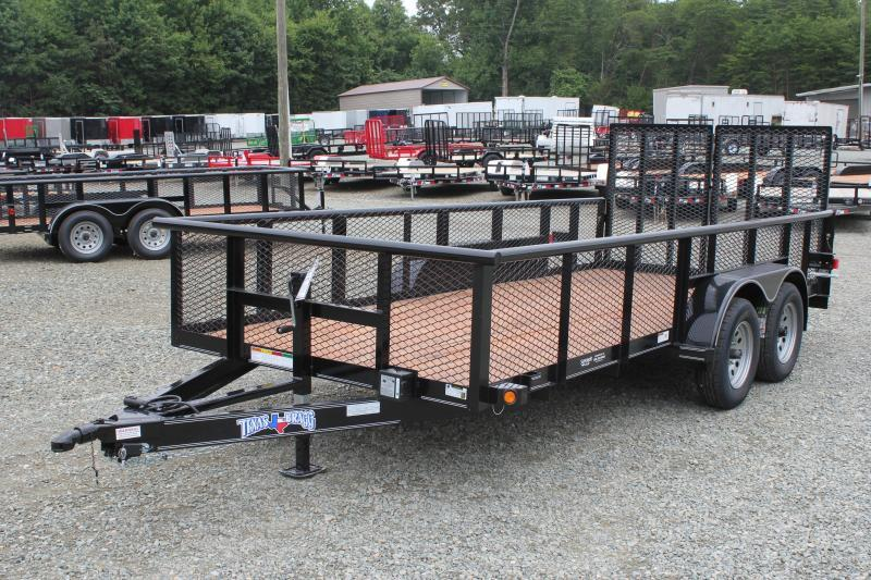 2019 Texas Bragg Trailers 16P 2ft Expanded Sides & Split HD Gate