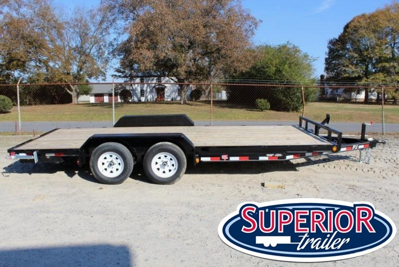 2018 PJ Trailers 18ft C5 7K Car Trailer w/ Slide in Ramps