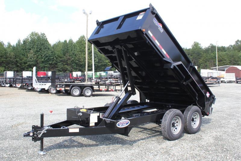 2019 Hawke 6X12 10K Dump w/ Spreader Gate & Ramps