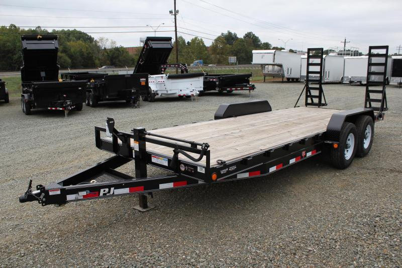2016 PJ Trailers 20CC 14K w/ Fold Up Ramps