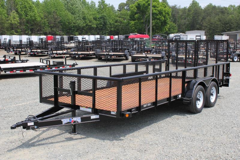 2017 Texas Bragg 18P 2ft Expanded Sides w/ Split Gate