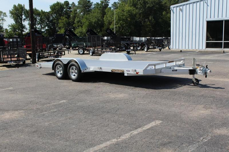 2017 Aluma 8218 Car Trailer w/ Slide In Ramps