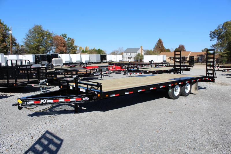 2019 PJ Trailers 24ft F8 14K Deckover w/Fold Up Ramps