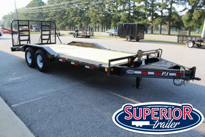 2018 PJ Trailers H6 20ft 16K w/ Heavy Duty Fold Up Gate