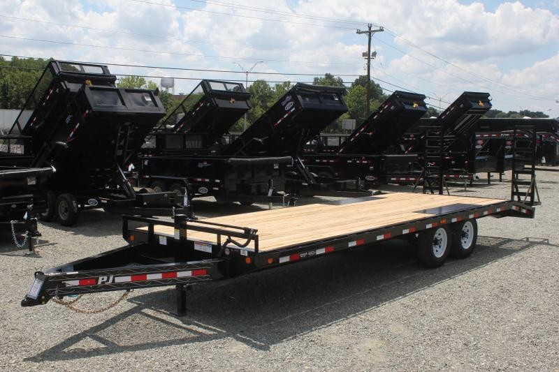 2020 PJ Trailers 24 F8 14K Deckover w/ Fold Up Ramps