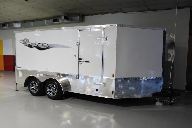 2018 Continental Cargo 7X14 Motorcycle Trailer