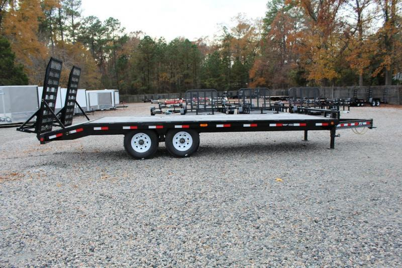 "2017 PJ Trailers 22ft F8 16K Deckover w/ 31"" x 66"" Ramps"