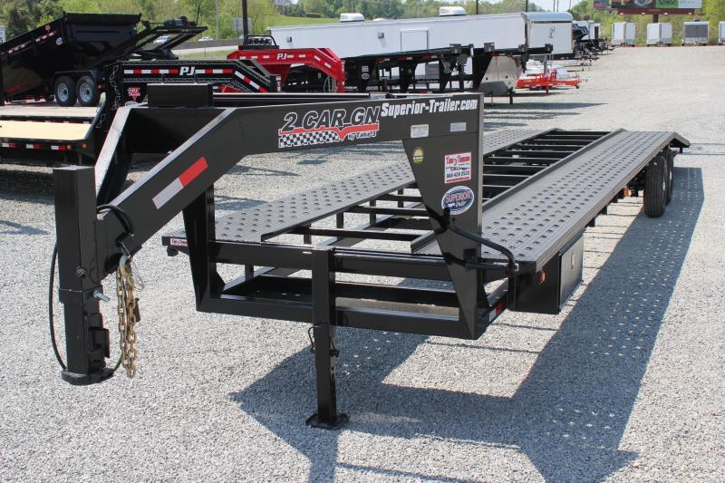 2018 Take 3 40ft Gooseneck 2 Car Hauler