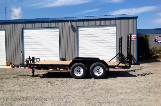 2018 PJ Trailers 16ft CC 14K w/ Fold Up Ramps