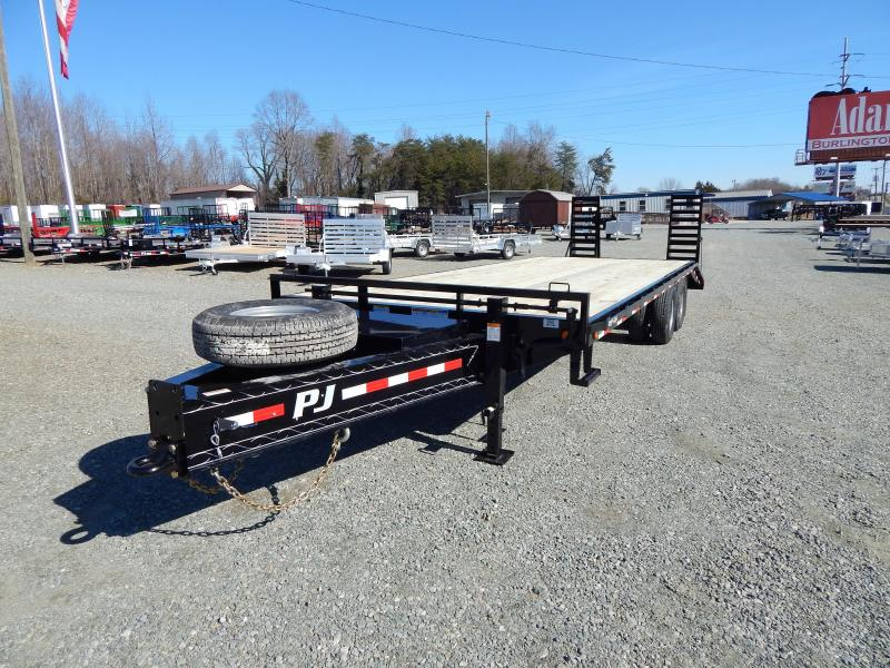 2019 PJ 26ft PD Pintle Flatbed w/ Flip-over Ramps