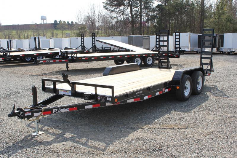 2017 PJ Trailers 18 CE 10K w/ Fold Up Ramps