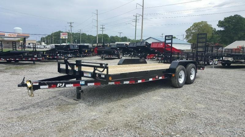 2020 PJ Trailers 20' CC 14K Equipment Trailer w/ Fold Up Ramps