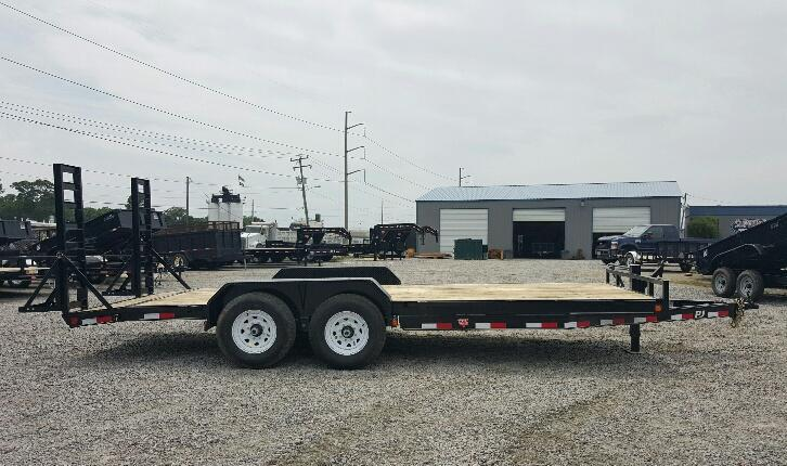 2017 PJ Trailers 18ft CC 14K w/Fold Up Ramps