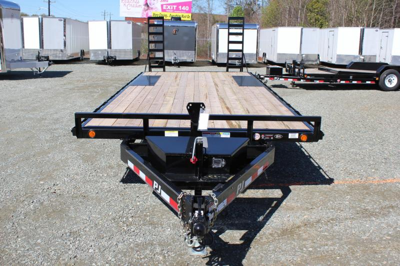 2018 PJ Trailers 21 L6 10K Deckover w/ Fold Up Ramps