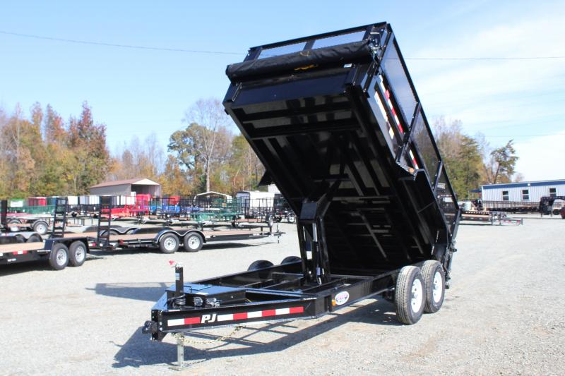"2019 PJ Trailers 7X14 DL 14K Dump w/ 24"" Exp Metal Side Extensions"