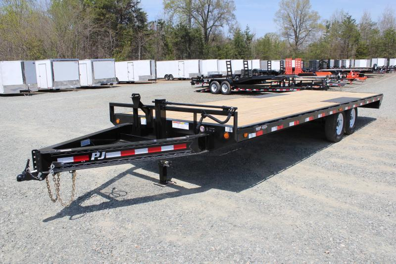 2019 PJ Trailers 24 F8 14K Deckover w/ Slide In Ramps