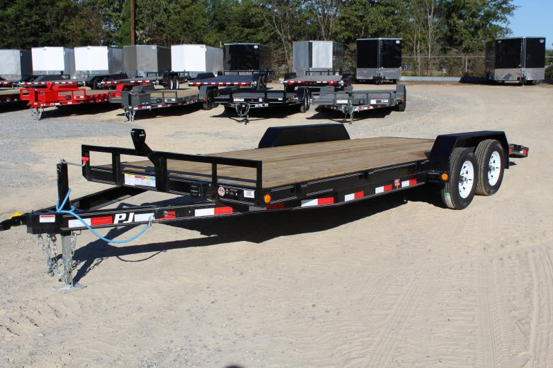 2018 PJ Trailers 20ft 7K C5 Car / Racing Trailer w/ Rear Slide In Ramps