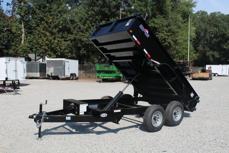 2019 Hawke 6X12 10K Dump w/ Barn Door Gate