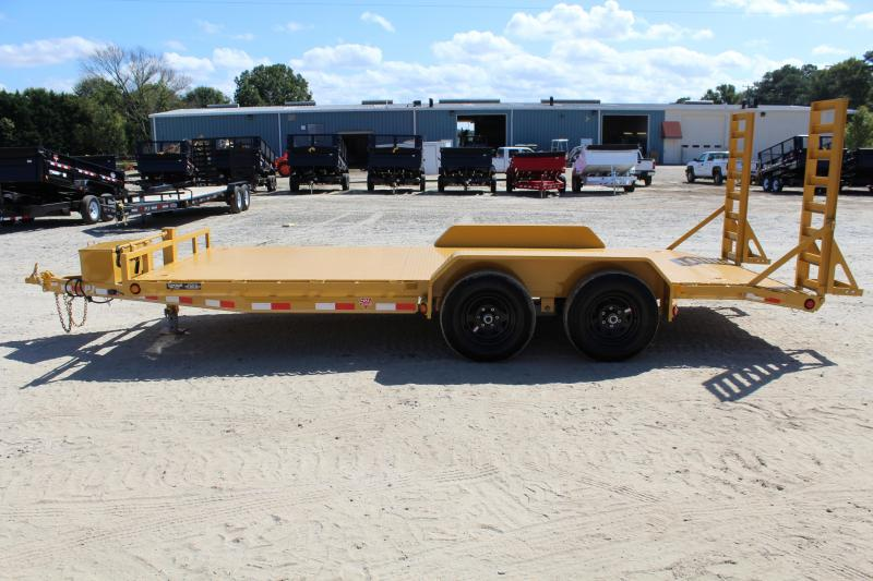 2018 PJ Trailers 18' CE 10K Equipment Trailer w/ Fold Up Ramps
