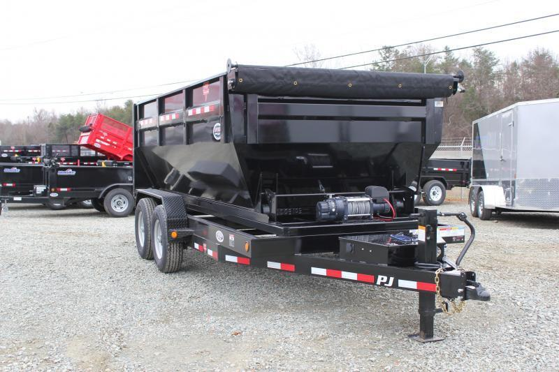 2019 PJ Trailers 7X14 DR 14K Roll Off Dumpster Trailer