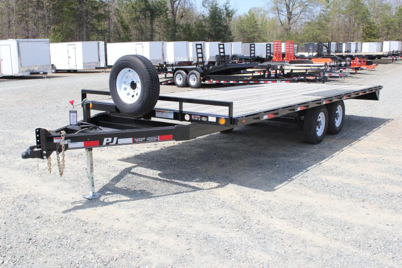 2017 Pre Owned PJ 20ft L6 10K Deckover w/Slide in Ramps
